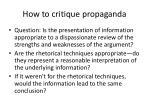 how to critique propaganda