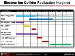 electron ion collider realization imagined