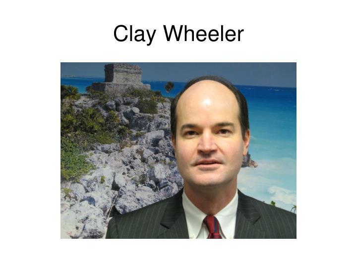 Clay wheeler