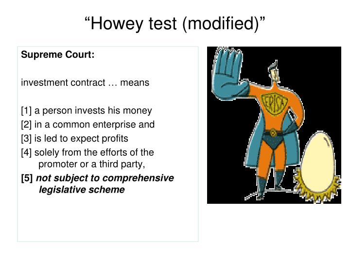 """Howey test (modified)"""