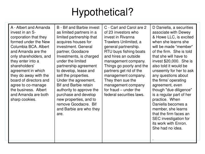 Hypothetical?