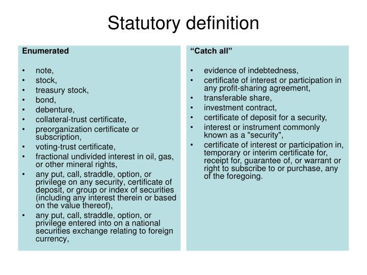 Statutory definition