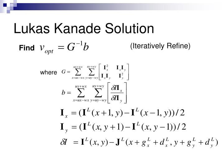 Lukas Kanade Solution