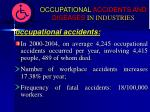 occupational accidents and diseases in industries