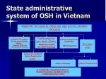 state administrative system of osh in vietnam