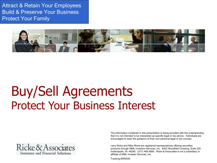 buy sell agreements protect your business interest n.
