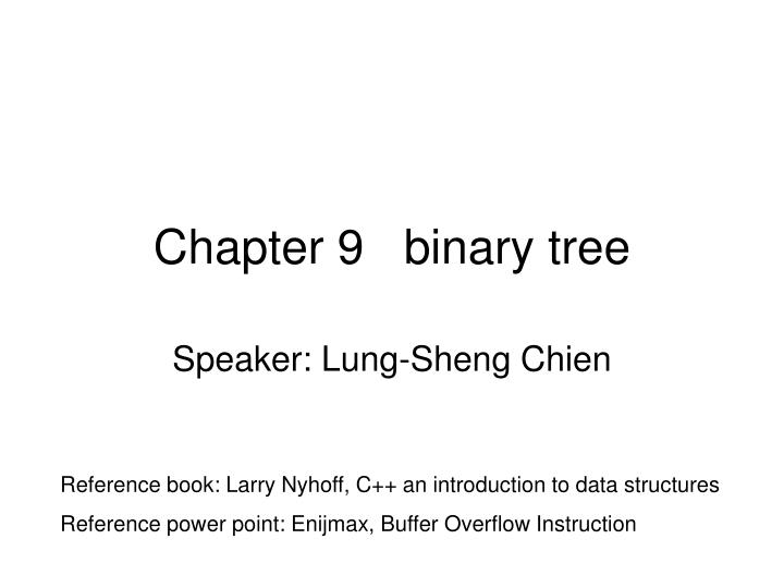 chapter 9 binary tree n.