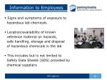 information to employees1