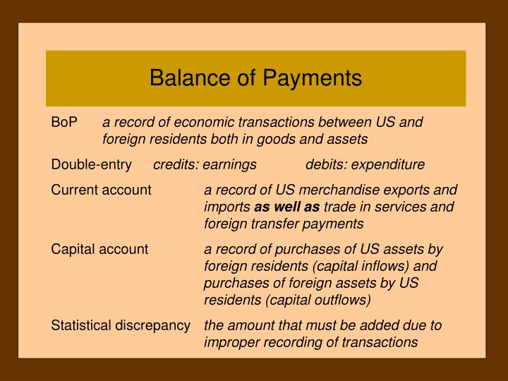 balance of payments summary statement 4) balance of payment (bop) data may be important for any of the following reasons: a) bop data helps to forecast a country's market potential, especially in the short run b) the bop is an important indicator of a country's foreign exchange rate.