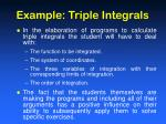 example triple integrals