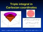 triple integral in cartesian coordinates