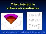 triple integral in spherical coordinates