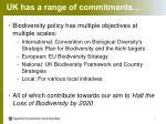 u k has a range of commitments