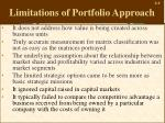 limitations of portfolio approach