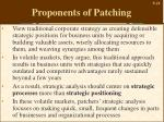 proponents of patching