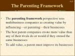 the parenting framework