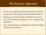 the synergy approach