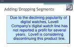 adding dropping segments1