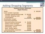adding dropping segments2