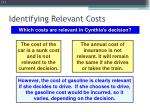 identifying relevant costs2
