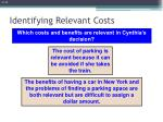 identifying relevant costs5