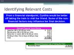 identifying relevant costs6