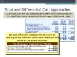 total and differential cost approaches1