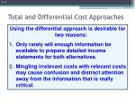 total and differential cost approaches2