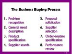 the business buying process