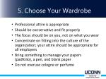 5 choose your wardrobe