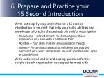 6 prepare and practice your 15 second introduction