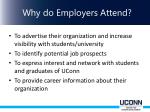 why do employers attend