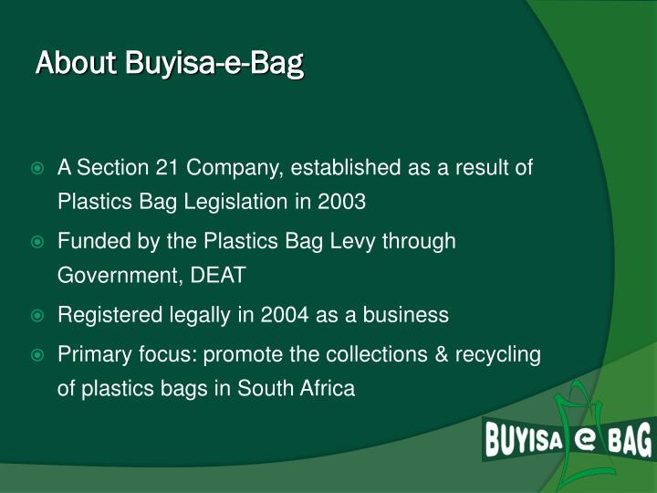 About buyisa e bag