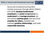 what is social and emotional learning