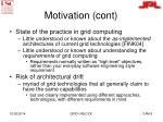motivation cont