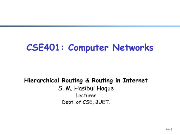 cse401 computer networks n.