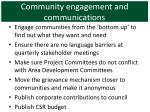 community engagement and communications