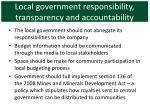 local government responsibility transparency and accountability