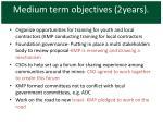 medium term objectives 2years