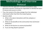 methodology and interview protocol