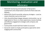 monitoring evaluation and advocacy