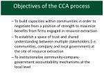 objectives of the cca process