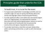 principles guide that underlie the cca process