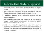 zambian case study background