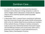 zambian case