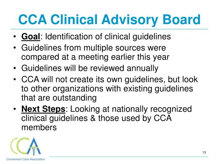 CCA Clinical Advisory Board