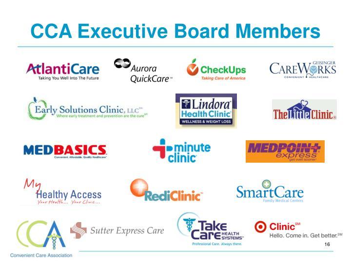 CCA Executive Board Members