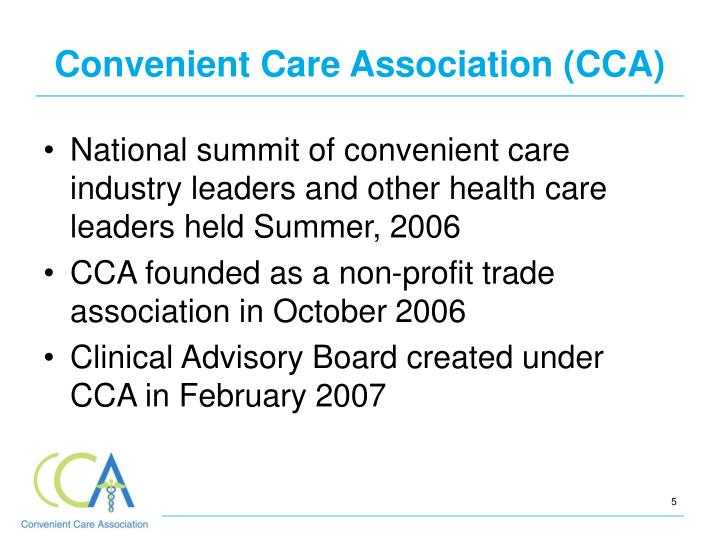 Convenient Care Association (CCA)
