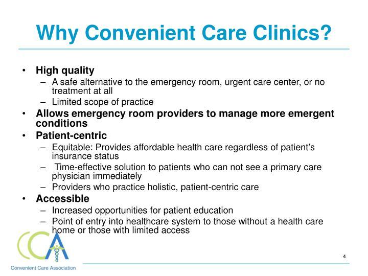 Why Convenient Care Clinics?