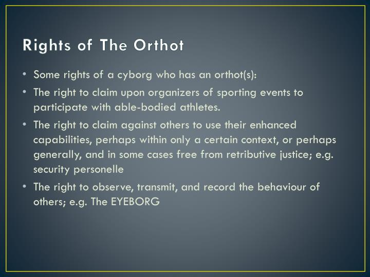 Rights of The